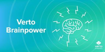 Verto Brainpower on December 3, 2018 at 4pm @ Verto Data Lab
