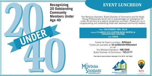 2019 Montana Standard 20 Under 40 Awards Luncheon