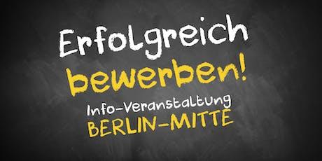 Bewerbungscoaching Infoveranstaltung Berlin Tickets