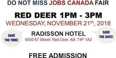 FREE: Red Deer Job Fair – November 21st 2018