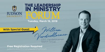 Leadership in Ministry Forum March 19, 2019