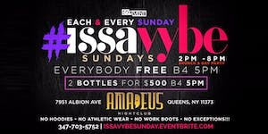 Issa Vybe Sunday Brunch & Day Party weekly event...