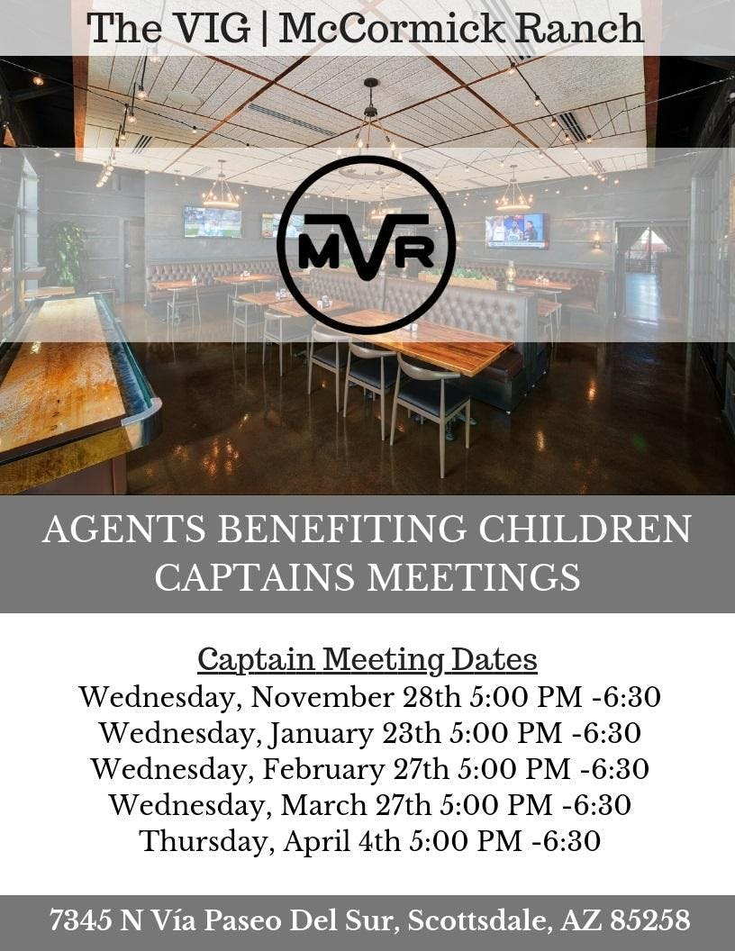Agents Benefiting Children - Captains Meeting #1 (November