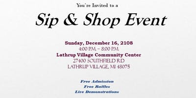 Sip & Shop Vendor Event