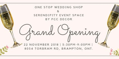 Grand Opening One Stop Wedding Shop/Serendipity by FCC Decor