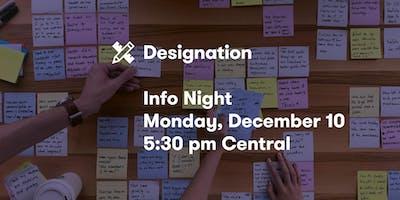 Designation Info Night, December 10