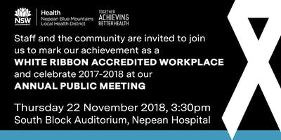 White Ribbon Workplace Accreditation Launch & 2017-18 Annual Public Meeting