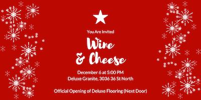 Deluxe Granite Christmas Wine & Cheese