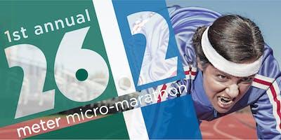 1st Annual 26.2 Meter Micro-Marathon