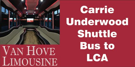 Carrie Underwood Shuttle Bus to LCA from O'Halloran's / Orleans Mt. Clemens tickets