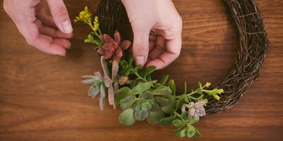 DIY Succulent Wreath Workshop @ ZACA MESA WINERY in Los Olivos