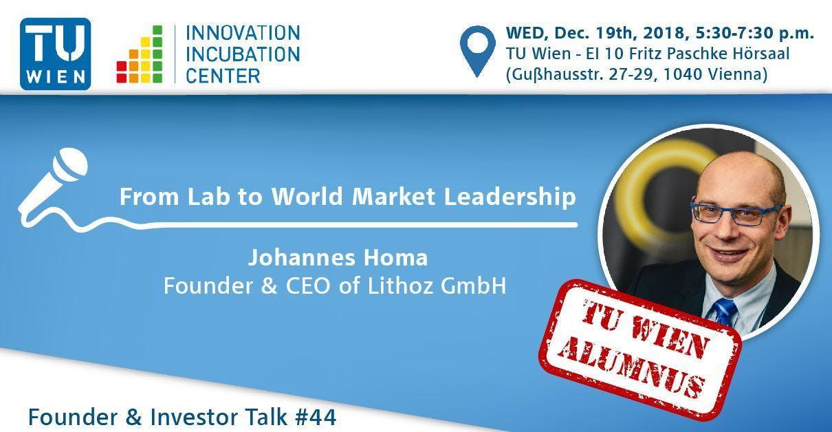 i²c Founder & Investor Talk #44 - TUW Alumni Edition: