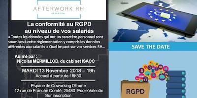 AfterWork RH Besançon - Mardi 13 Novembre, Conformité au RGPD