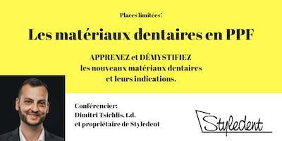 Mardi 27 nov - Les Matériaux Dentaires En PPF