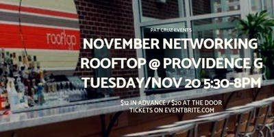 Statewide Networking Event Tues/Nov 20th, Rooftop at Providence G