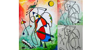 """PAINTOMANIA malt \""""Like Miró - Freestyle\"""" in Hannover"""