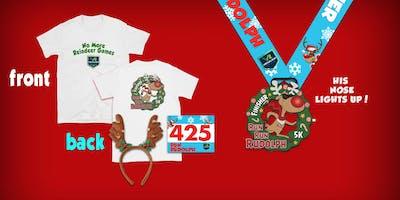 Run Run Rudolph Virtual 5k Run Walk - Grand Prairie