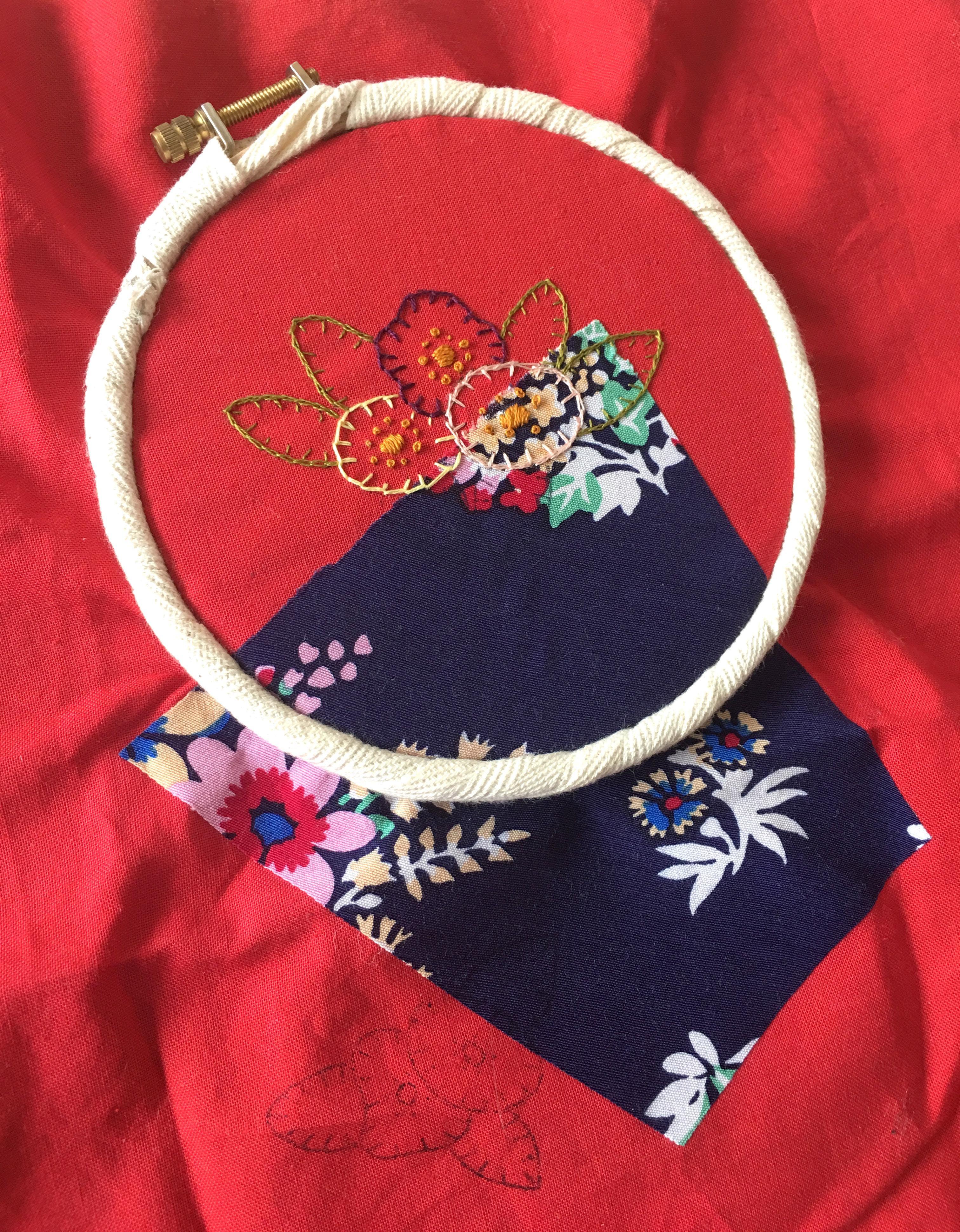 Hand Embroidery for beginners – using vintage