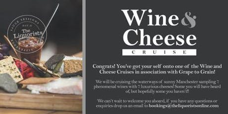 (2/50 Left) Wine & Cheese Cruise - 7pm (The Liquorists) tickets