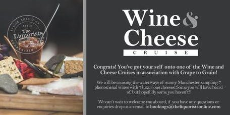 (SOLD OUT) Wine & Cheese Cruise - 7pm (The Liquorists)