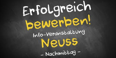 Bewerbungscoaching Infoveranstaltung Neuss - Nachmittag