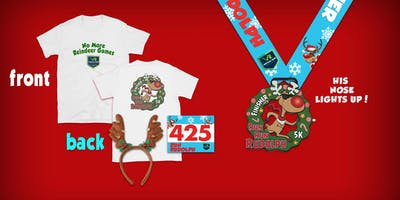 Run Run Rudolph Virtual 5k Run Walk - Alexandria