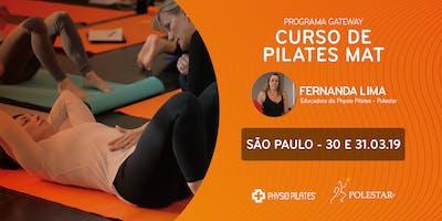 Curso de Pilates Mat - Physio Pilates Polestar - São Paulo