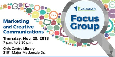 Marketing and Creative Communications Focus Group