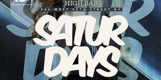 HIGH BAR SATURDAYS - VIP GUEST LIST