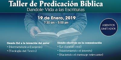 """Taller de Predicación Bíblica """"Dándole vida a las escrituras"""""""