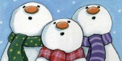 Trio of Snowmen $40