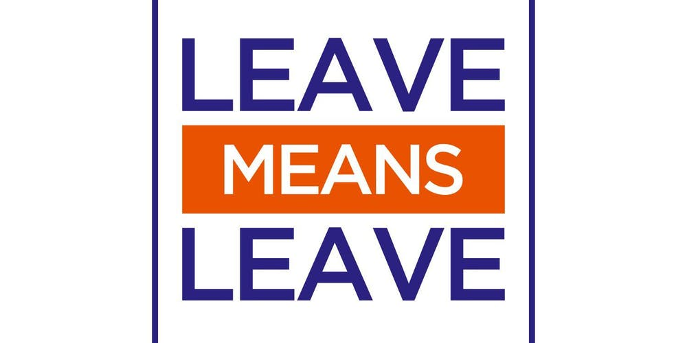 Leave Means Leave Rally