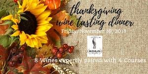 Thanksgiving Wine Tasting Dinner
