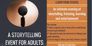 A STORYTELLING EVENT FOR ADULTS