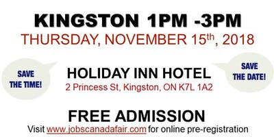 FREE: Kingston Job Fair – November 15th, 2018