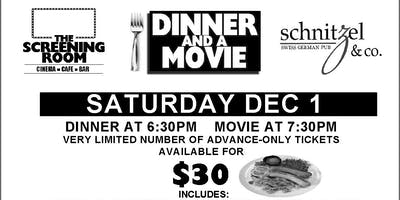 DINNER AND A MOVIE featuring THE SOUND OF MUSIC! (Sat Dec 1, 2018)