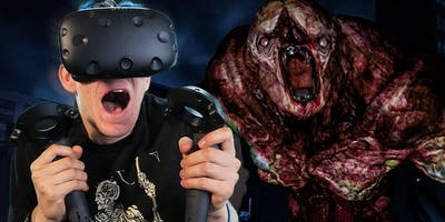 Virtual Reality zombie shooting experience