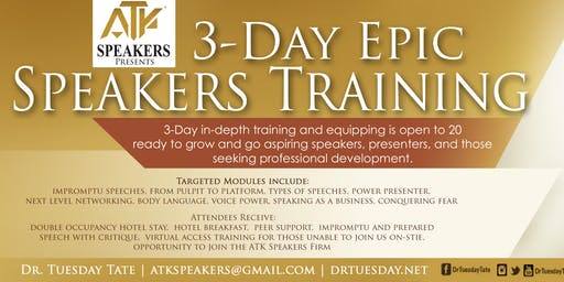 ATK Speakers Presents | Speaker and Communication Training | For Non-ATKSPF Members