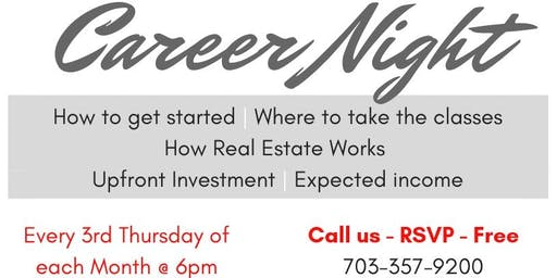 Career Night - Steps to your Real Estate Future!
