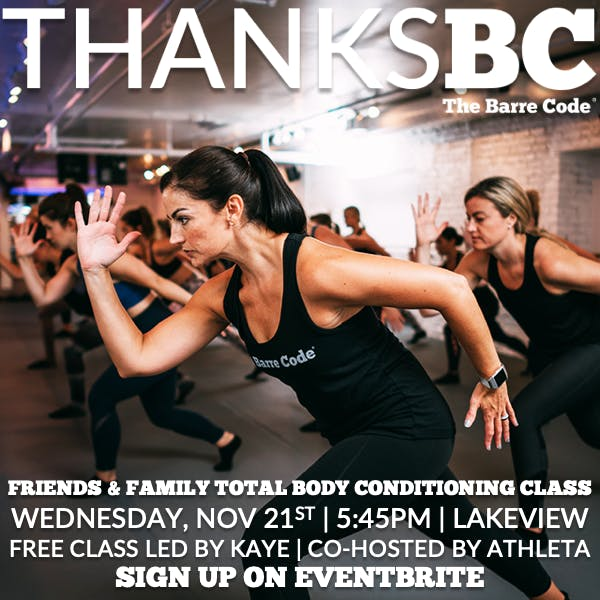 ThanksBC: Total Body Conditioning Class {The