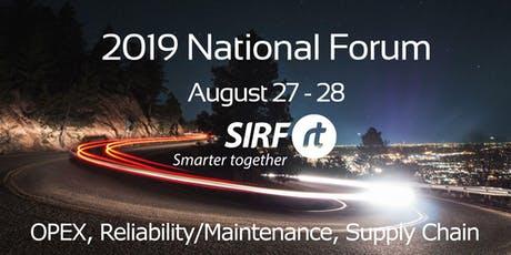 SIRF National Forum - Melbourne August 27/28 2019 | 2 days, 3 streams tickets