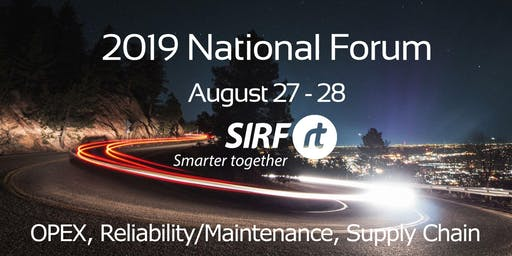 SIRF National Forum - Melbourne August 27/28 2019 | 2 days, 3 streams