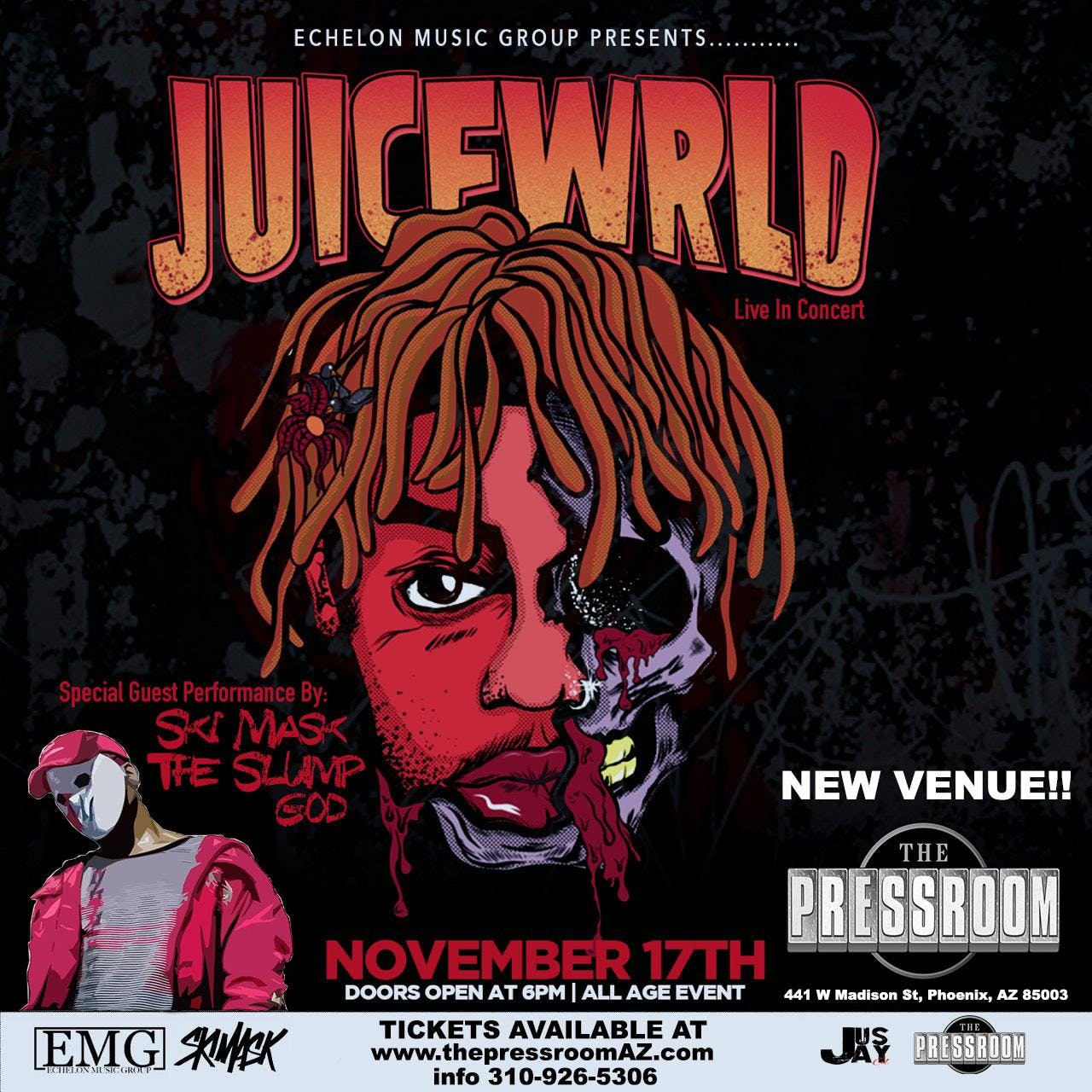 JUICE WRLD w/ SKI MASK THE SLUMP GOD @ The Pressroom