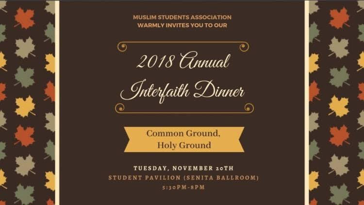 Annual Interfaith Dinner
