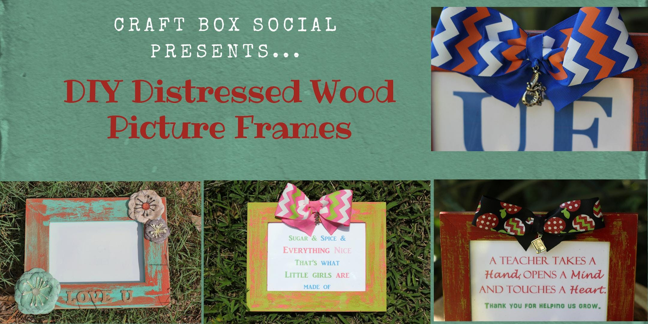 DIY Distressed Wood Picture Frames with Craft