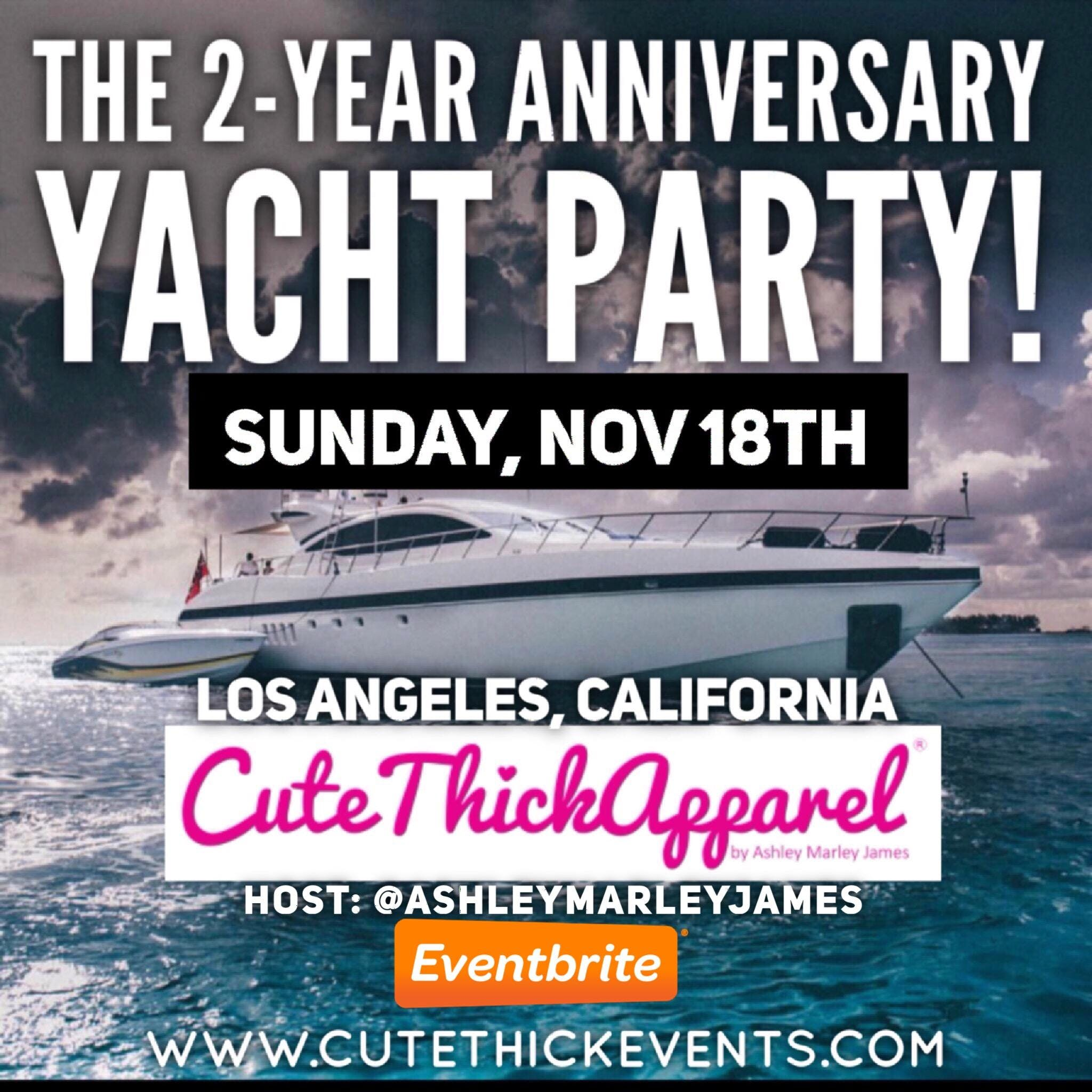 Cute Thick Apparel 2-Year Anniversary Yacht P