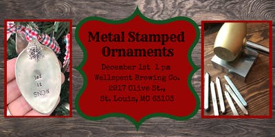 Christmas Ornaments: Metal Stamping for Beginners Workshop