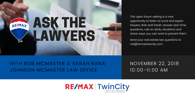 Ask the Lawyer with Bob McMaster