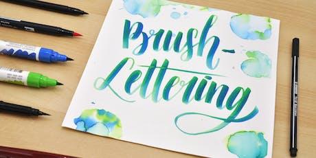 Brush Lettering und wie es funktioniert! Tickets