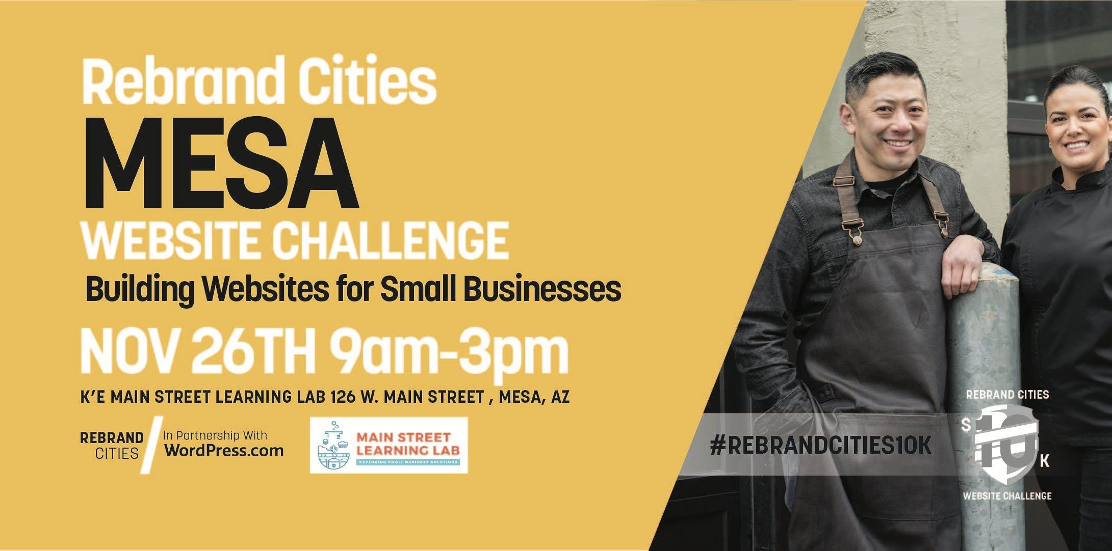 Rebrand Cities - Mesa Website Challenge